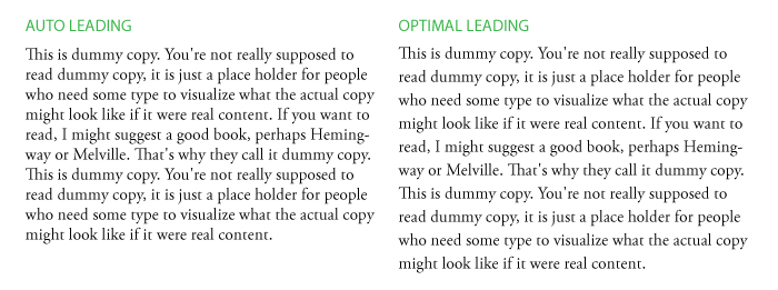 auto leading vs optimal leading