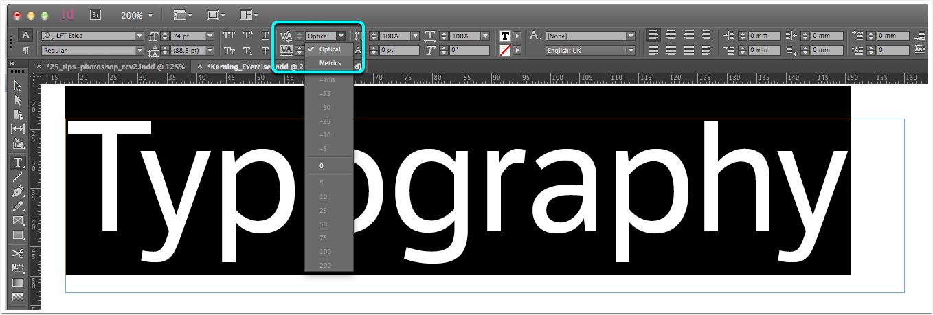 InDesign Kerning