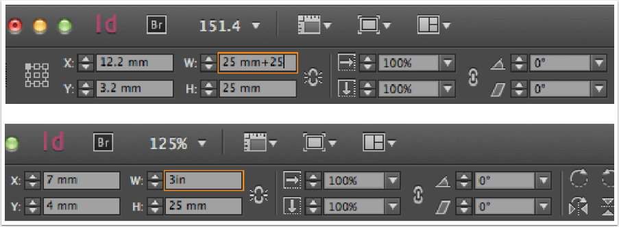 indesign tips: indesign can calculate for you screen capture